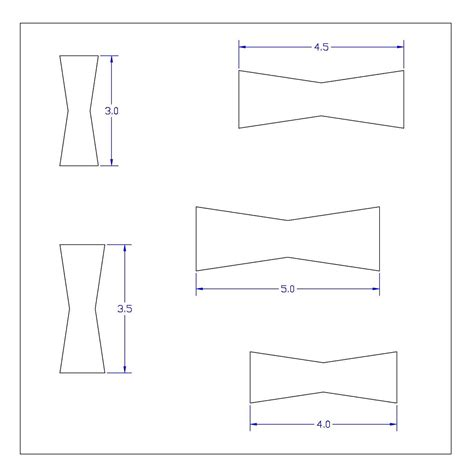 printable router templates large bow tie template bow tie shapes templates