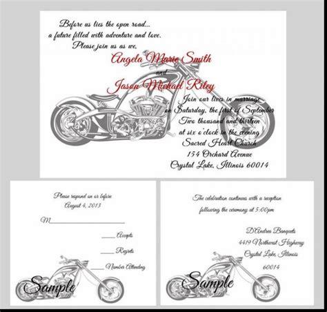 Harley Davidson Invitations by Wedding Invitation Templates Harley Davidson Wedding