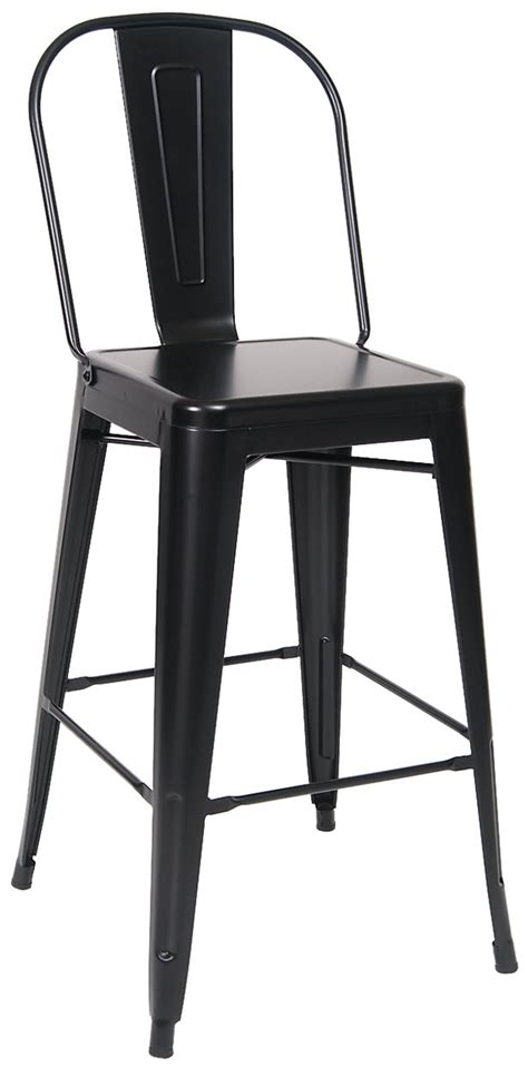 Bistro Style Bar Stools by Bistro Style Metal Bar Stool In Black Finish
