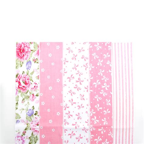 Floral Patchwork Fabric - new 5 colors pink floral patchwork cotton fabric strips