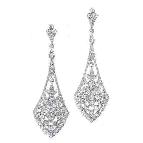 dramatic earrings vintage inspired wedding jewelry