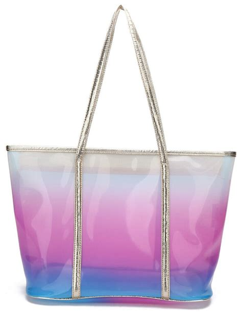 new clear see through tote bag handbag purse shopper ebay