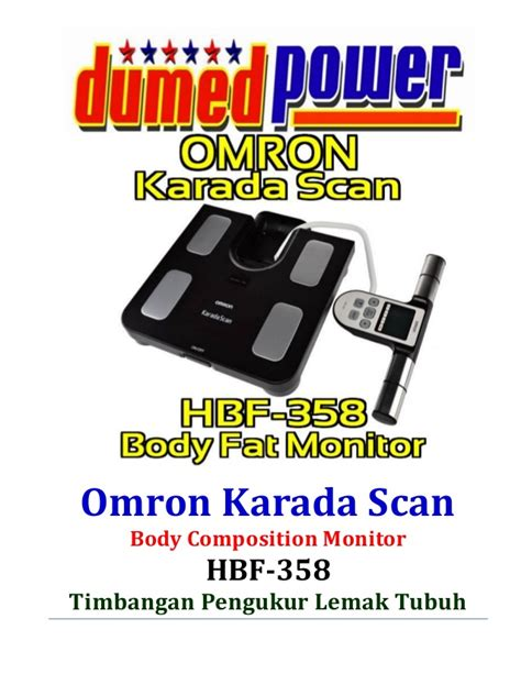 Timbangan Lemak omron karada scan hbf 358 alat monitor komposisi tubuh