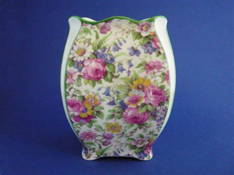 Royal Winton Grimwades Vase Early Grimwades Royal Winton Summertime Chintz Savoy Vase