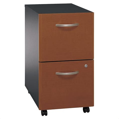 Bush Series C 2 Drawer Vertical Mobile Wood File Cabinet Vertical File Cabinets Wood