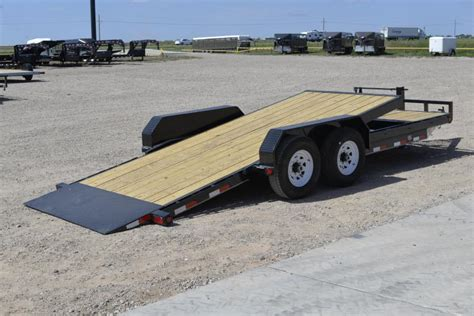 tilt bed trailers 2017 pj 20 14k gravity tilt bed trailer happy trailer