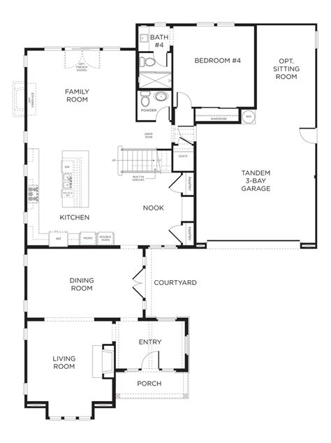 floor plan standard second home pinterest watermark plan 3c click image to see plan for second