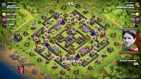 th9 layout update th9 farming base arcanum clash of clans land