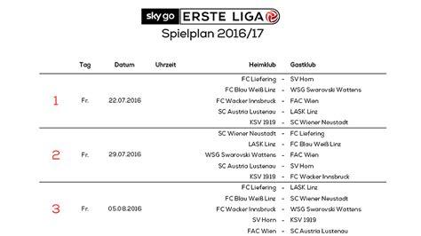 erste bundesliga tabelle das ist der erste liga spielplan 2016 17 laola1 at