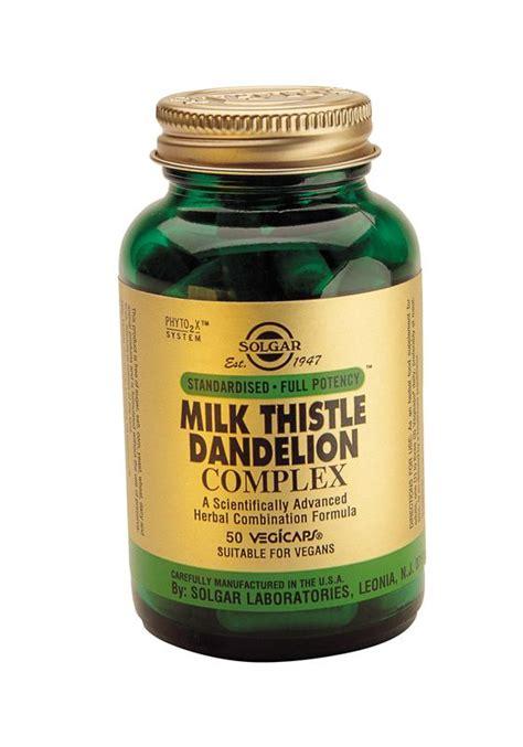 Milk Thistle For Detox Thc by Solgar Milk Thistle Dandelion Complex Vegicaps 50 Ibuy