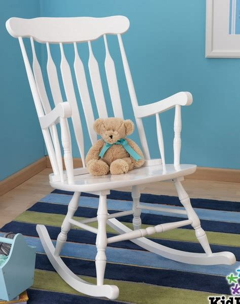 New Large White Wooden Nursery Rocking Chair Indoor Rocker Nursery Wooden Rocking Chair