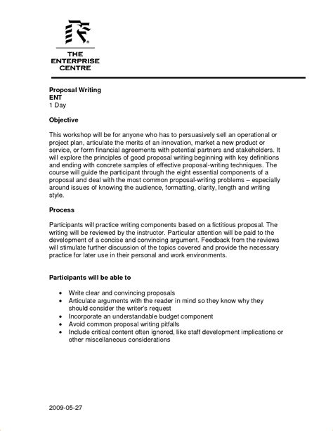 writing a proposal exle business proposal templated