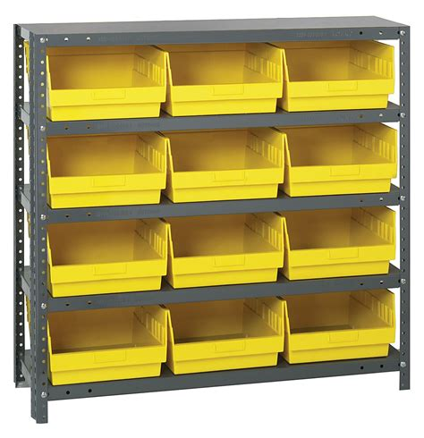 1839 210 steel shelving shelf bin system quantum storage