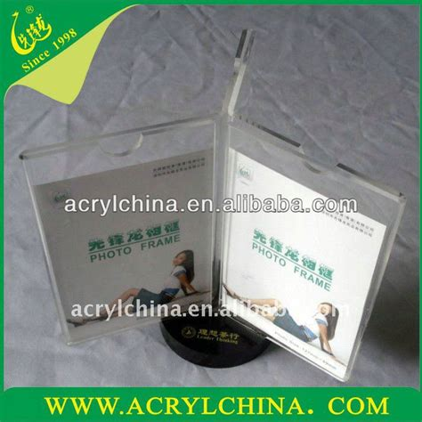 Rak Leaflet 2014 layar berdiri berputar pemegang menu akrilik putar leaflet brosur pemegang turnable display