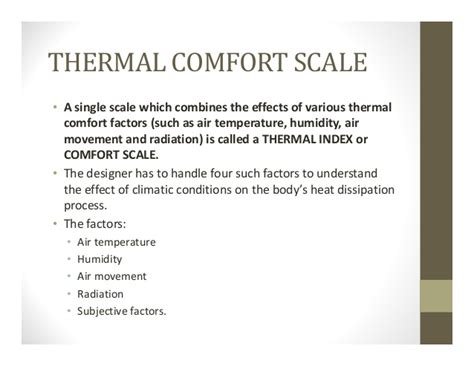 indices of thermal comfort 5 thermal comfort 2 indices