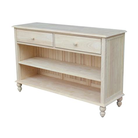 unfinished wood console table international concepts cottage unfinished console table ot