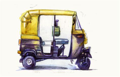 auto draw how to draw an auto rickshaw rickshaw challenge