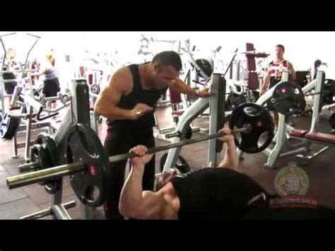 markus ruhl bench press marcus ruhl barbell bench press youtube