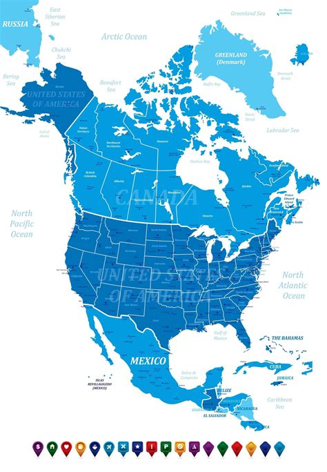 america political map eduplace map canada