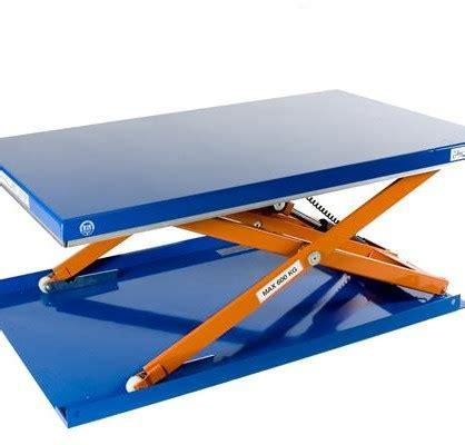 low profile mobile lift table scissor lift table lift table maverick equipment