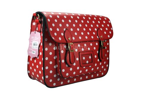 Bag Cambridge Satchel Polkadot by Camd1 Miss Lulu Large Satchel Polka Dot