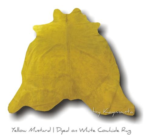 Yellow Cowhide Rug by Dyed Cowhide Leather Rug Yellow Mustard Habitusfurniture