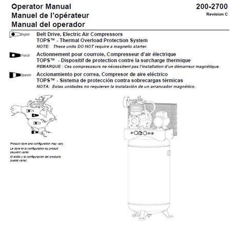 l e smith air compressor model 103 wiring diagrams