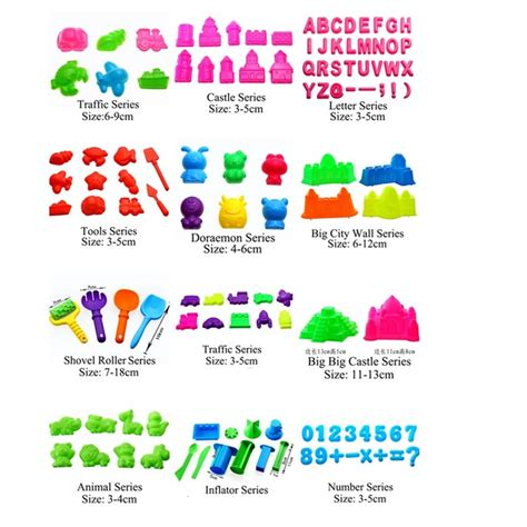Diskon Dough 8 Pcs 4 8pcs lot play dough playdough polymer clay plasticine mold tools set kit sand begin