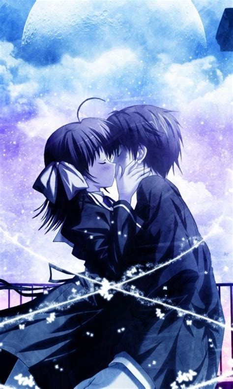 fondo pantalla anime love kiss
