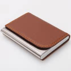 leather business card holder wallet metal artificial leather business name credit card