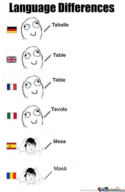 Language Differences Meme - language differences table by gxz95 meme center