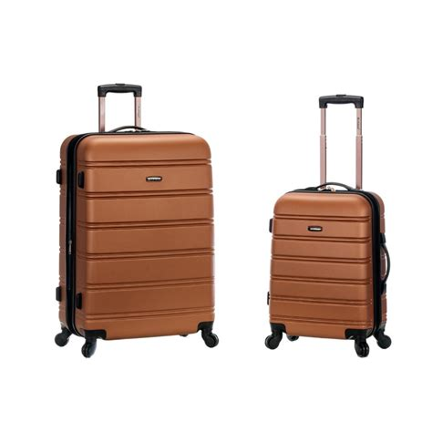 rockland expandable abs spinner set f225 brown the home