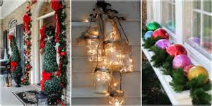 Outside Home Christmas Decorating Ideas 25 Best Outdoor Christmas Decorations Christmas Yard