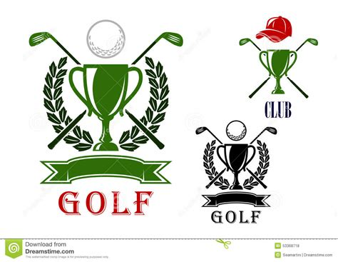 free golf logo design golf emblem and badges design templates stock vector