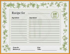 free recipe template for word 8 recipe card template for word letter template word