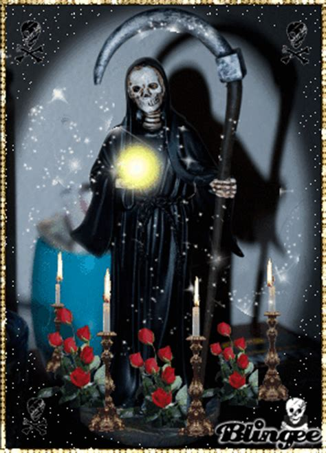 imagenes con movimiento de la santa muerte fotos animadas la santa muerte para compartir 128620945