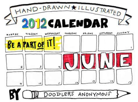 doodle calendar login june calendar draw doodlers anonymous