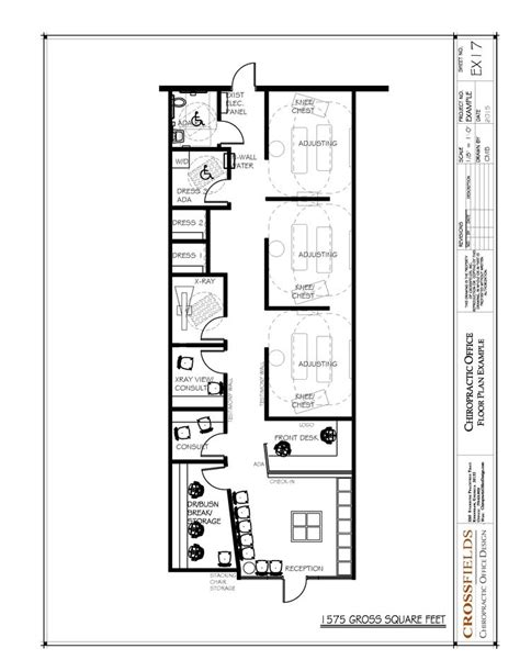 chiropractic office floor plans chiropractic office floor plan semi open adjusting 1575