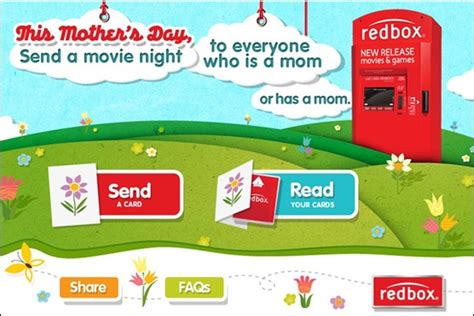 s day redbox free rental from redbox for mothers day