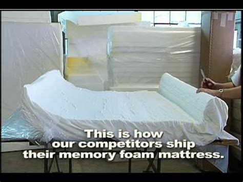 how to compress and ship a or memory foam mattress