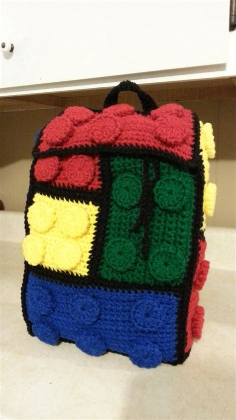 lego bag tutorial crochet lego backpack bag tutorial how to crochet a