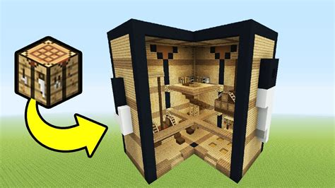 how to make a crafting bench in minecraft minecraft tutorial how to make a crafting table house quot house in a crafting table