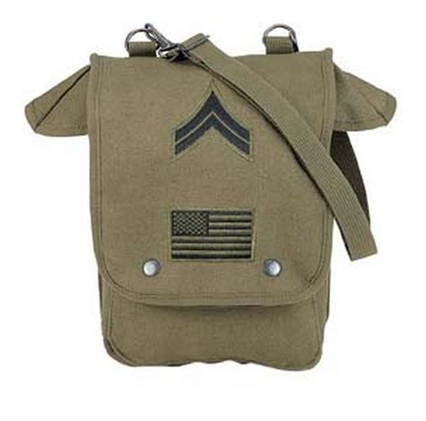 Luella Strappy Army Bag by Map Shoulder Bag With Patches 16 63