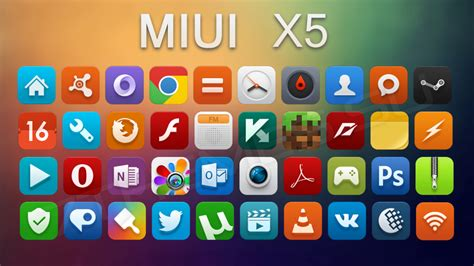 miui themes windows 10 miui x5 иконки ico и png
