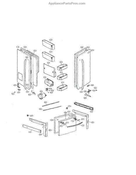 lg dishwasher parts diagram lg aap73631802 basket assembly door appliancepartspros