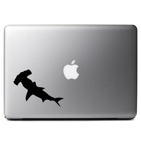baby shark keyboard hammerhead shark silhouette vinyl sticker laptop decal