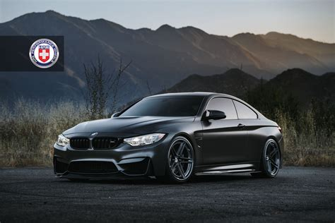 matte bmw hellish looking matte black bmw m4 with hre performance wheels
