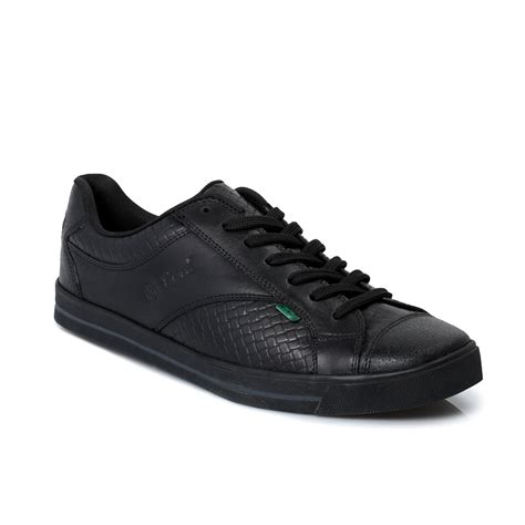 Kickers Shoes 5 kickers woly lace up black leather mens trainers shoes size 6 5 11 ebay
