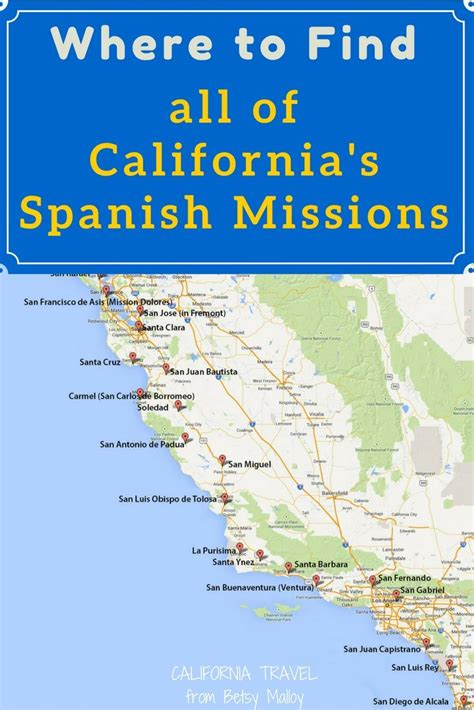 california map of missions 25 best ideas about california missions on