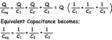 capacitors in series equation موقع لغة الروح